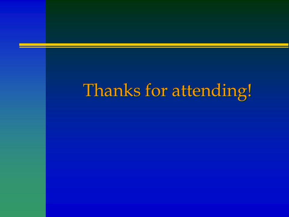 Thanks for attending!