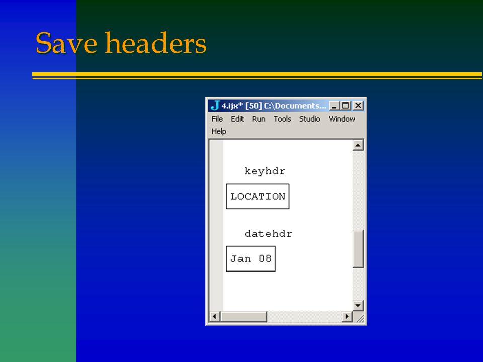Save headers