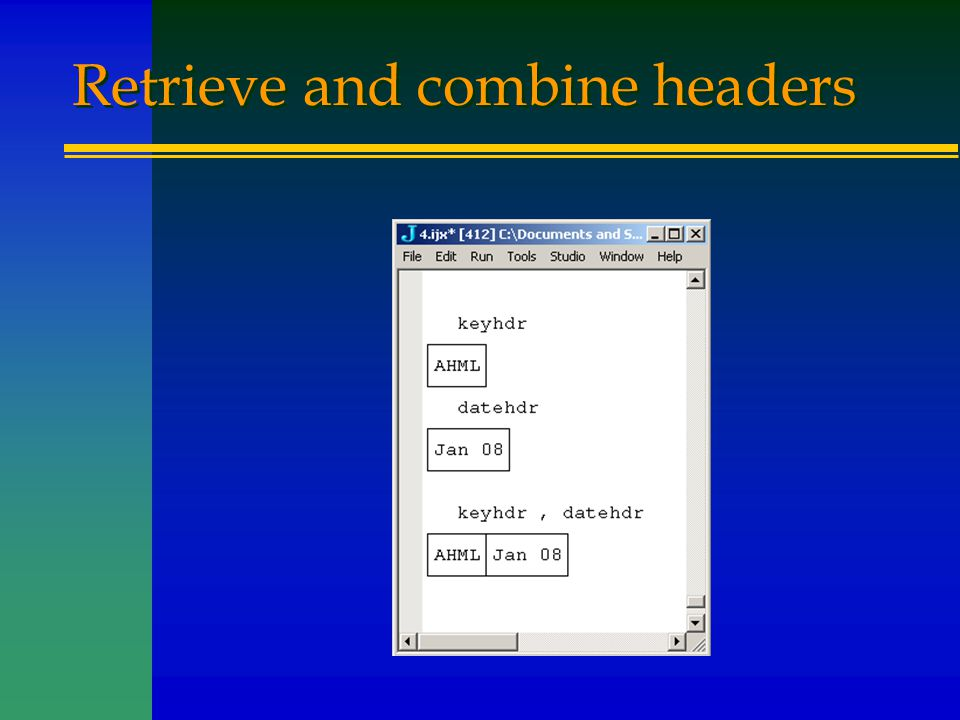 Retrieve and combine headers