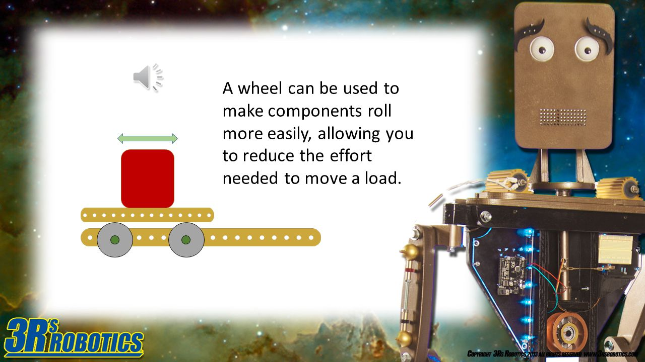 A wheel can be used to reduce friction when changing the direction of tackle.