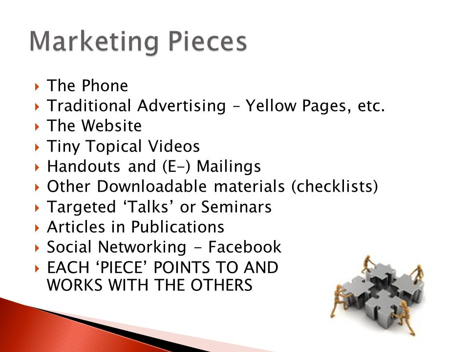  The Phone  Traditional Advertising – Yellow Pages, etc.