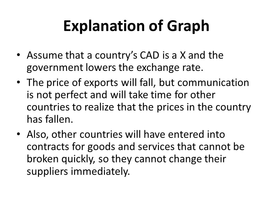 Explanation of Graph The Short Run Impact on Exports In the short run the PED for exports will be inelastic and export revenue will fall as price has fallen by proportionally more than demand would have risen.