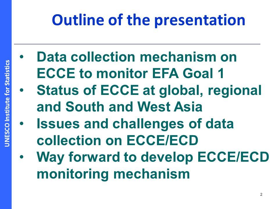 UNESCO Institute for Statistics Share of regions in ECCE enrolment, 2010 13