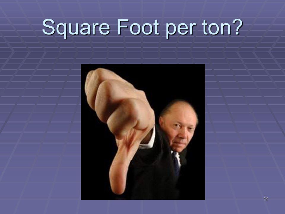 13 Square Foot per ton