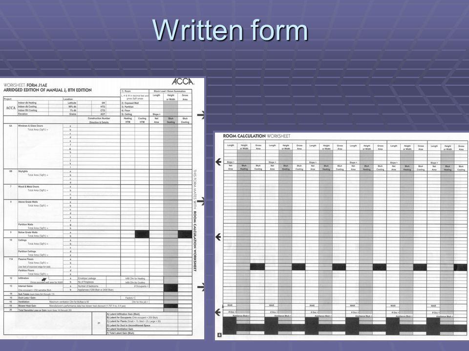 26 Written form