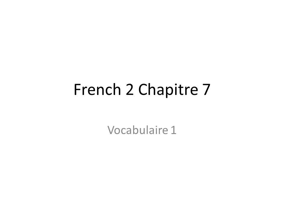 French 2 Chapitre 7 Vocabulaire 1