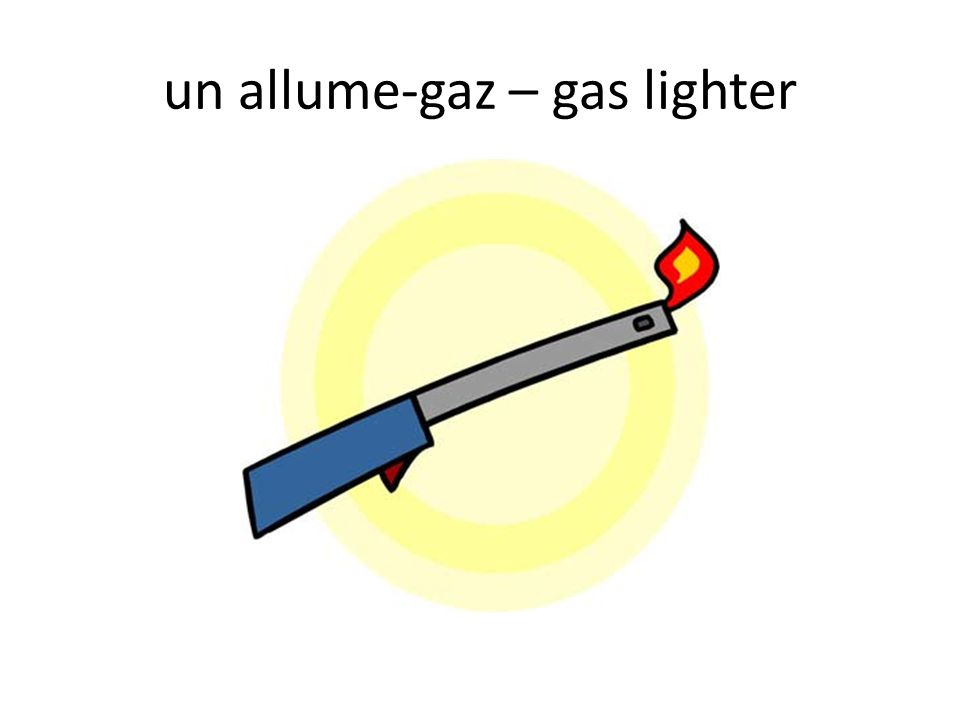 un allume-gaz – gas lighter