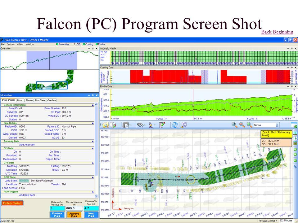 Falcon (PC) Program Screen Shot BackBack BeginningBeginning