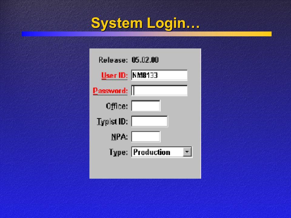 System Login…