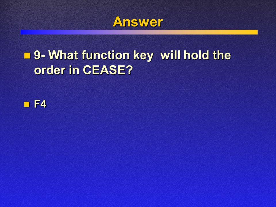 Answer F4 F4