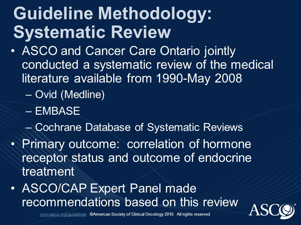 www.asco.org/guidelineswww.asco.org/guidelines.©American Society of Clinical Oncology 2010.