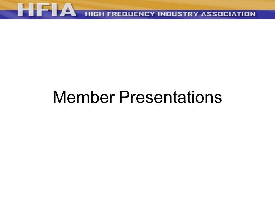 Member Presentations