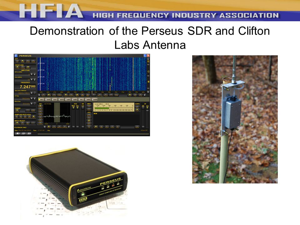 Demonstration of the Perseus SDR and Clifton Labs Antenna