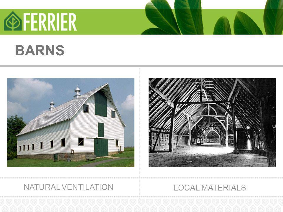 BARNS NATURAL VENTILATION LOCAL MATERIALS