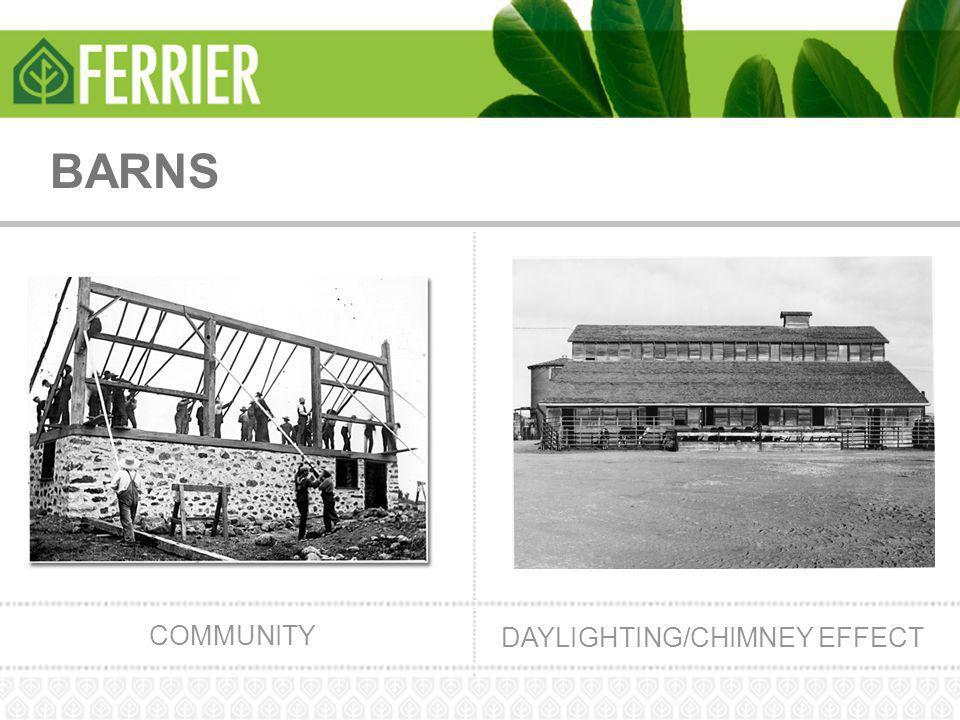 BARNS COMMUNITY DAYLIGHTING/CHIMNEY EFFECT