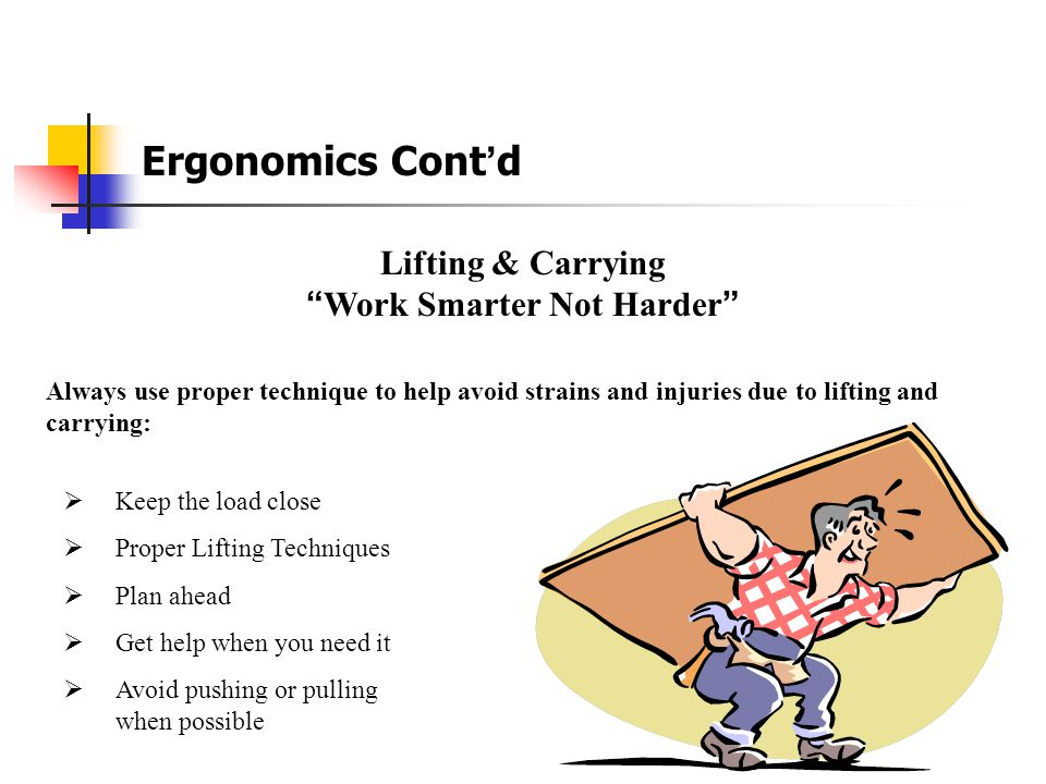 Office Ergonomics and Telephones Placing the telephone too far away can cause you to repeatedly reach, resulting in strain on the shoulder, arm, and n