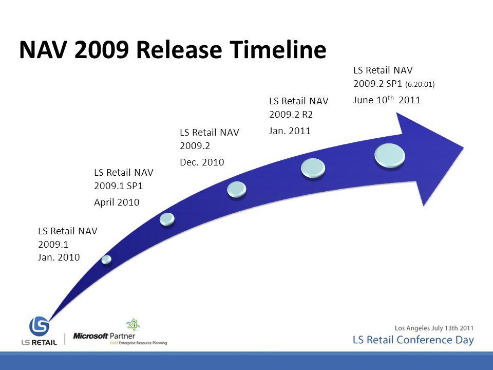 LS Retail NAV 2009.1 SP1 April 2010 LS Retail NAV 2009.2 Dec.