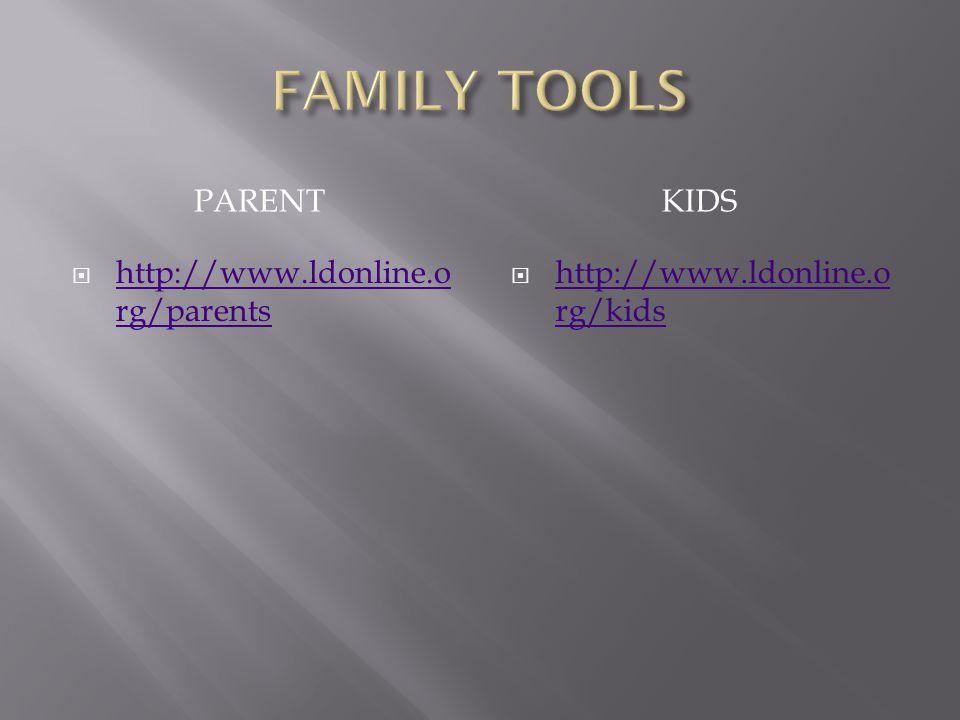 PARENTKIDS  http://www.ldonline.o rg/parents http://www.ldonline.o rg/parents  http://www.ldonline.o rg/kids http://www.ldonline.o rg/kids