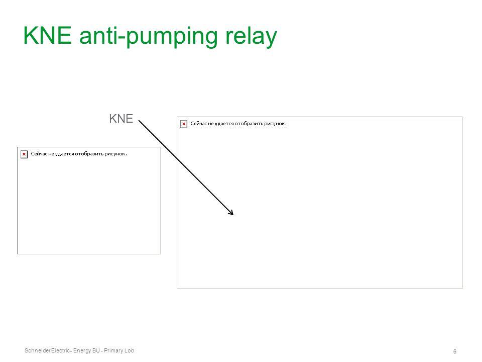 Schneider Electric - Energy BU - Primary Lob 6 - KNE anti-pumping relay KNE