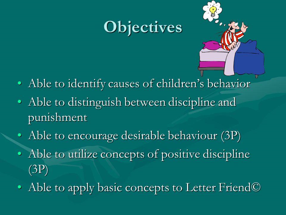 Managing children's behaviors