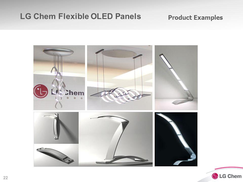 22 Product Examples LG Chem Flexible OLED Panels