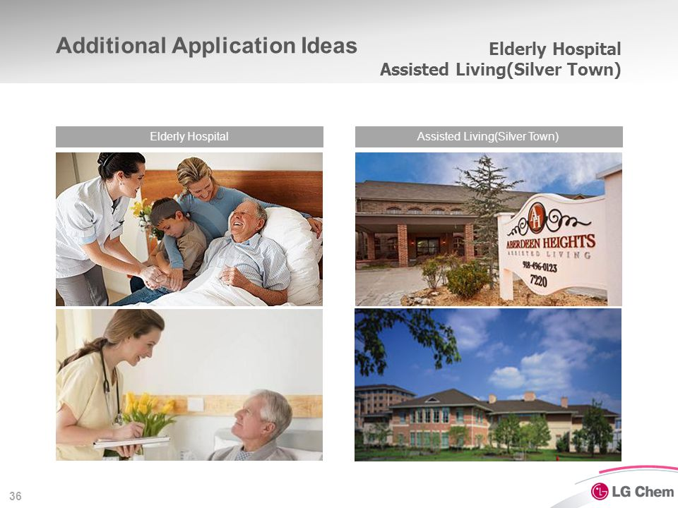36 Elderly Hospital Assisted Living(Silver Town) Elderly HospitalAssisted Living(Silver Town) Additional Application Ideas