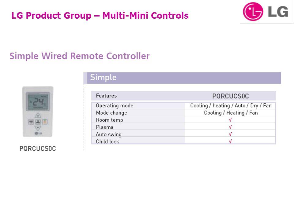 LG Product Group – Multi-Mini Controls