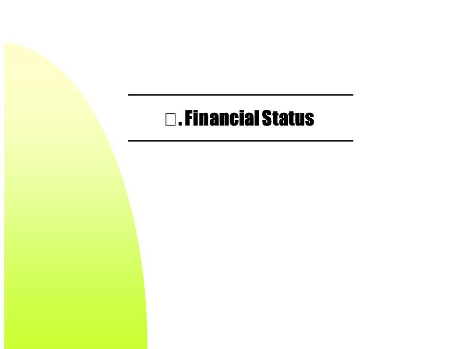 Ⅴ. Financial Status