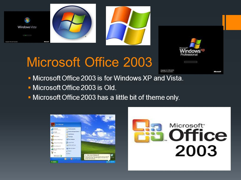 Microsoft Office 2007  Microsoft Office 2007 is for Windows XP and Vista and 7.