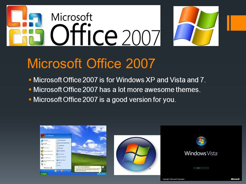 Microsoft Office 2010  Microsoft Office 2010 is for Windows 7 and 8.