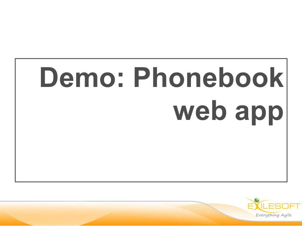 Demo: Phonebook web app