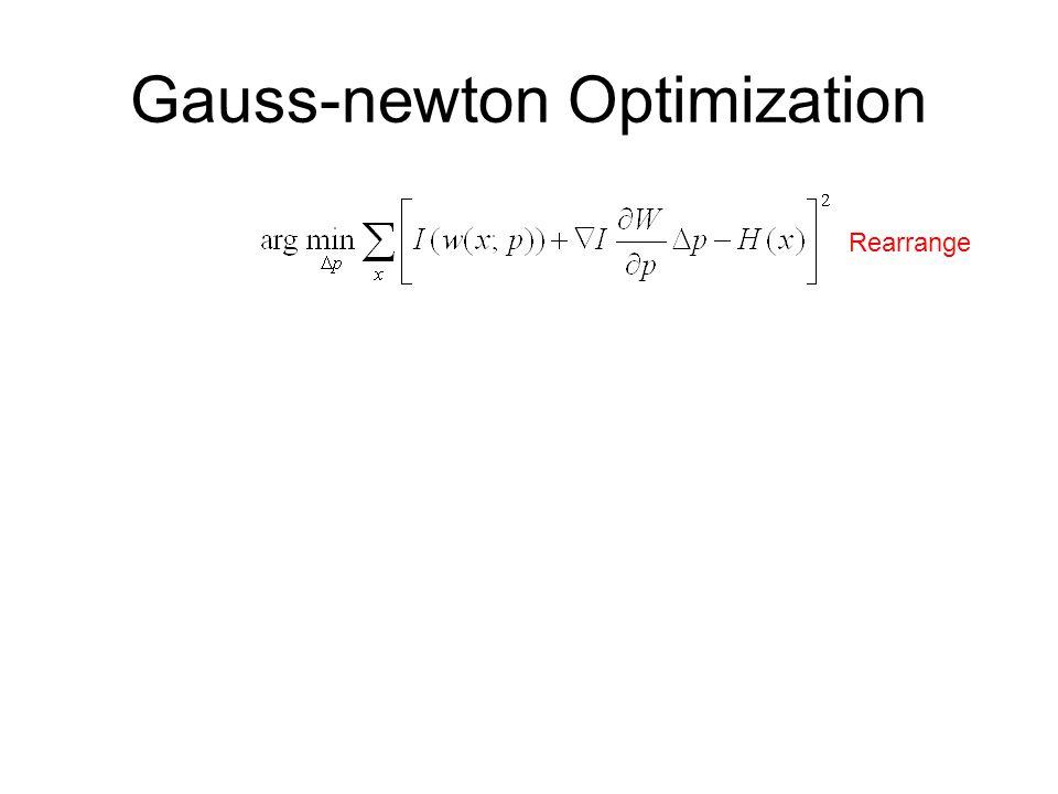 Gauss-newton Optimization Rearrange