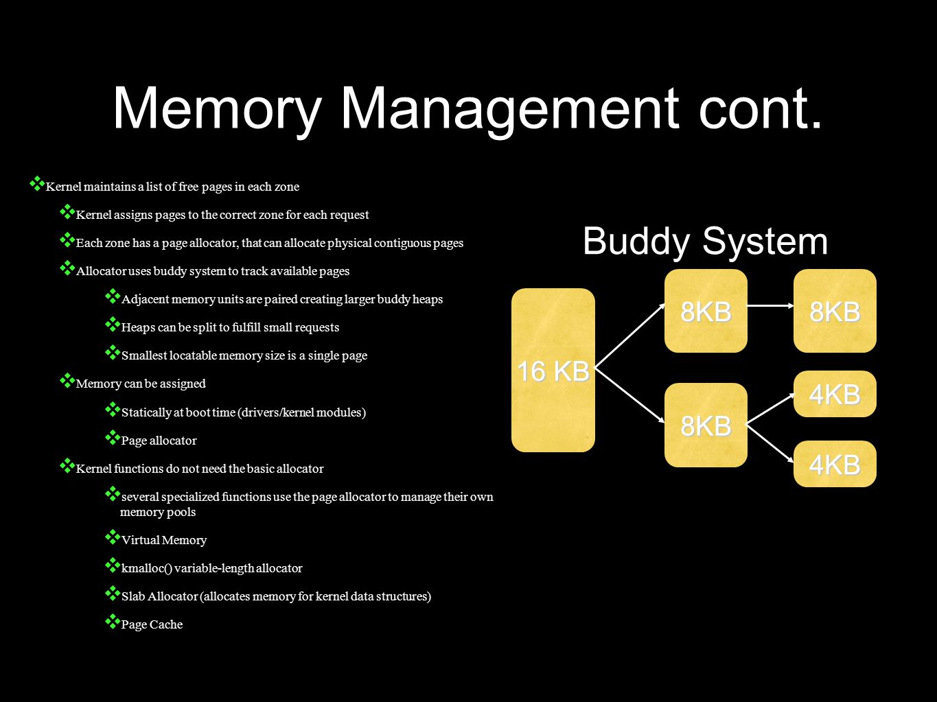 Memory Management cont.