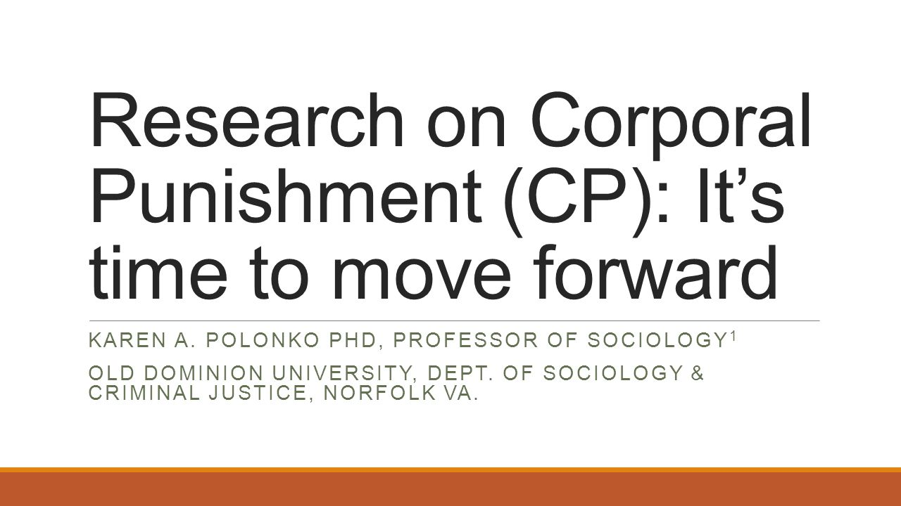 CP/Spanking by parents remains prevalent in the U.S.