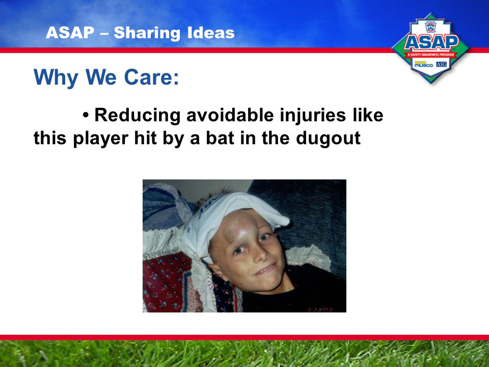 Why We Care: Reducing avoidable injuries like this player hit by a bat in the dugout ASAP – Sharing Ideas