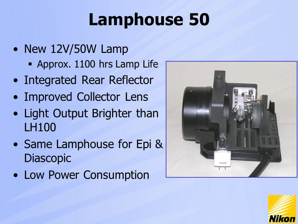 Lamphouse 50 New 12V/50W Lamp  Approx.