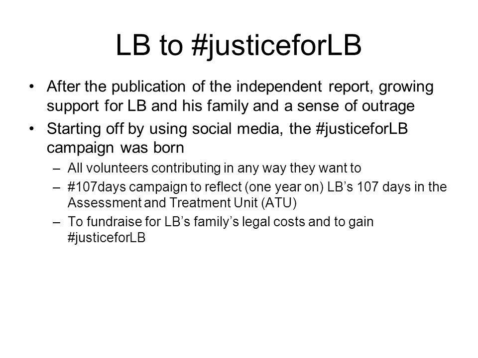 What does #justiceforLB look like.