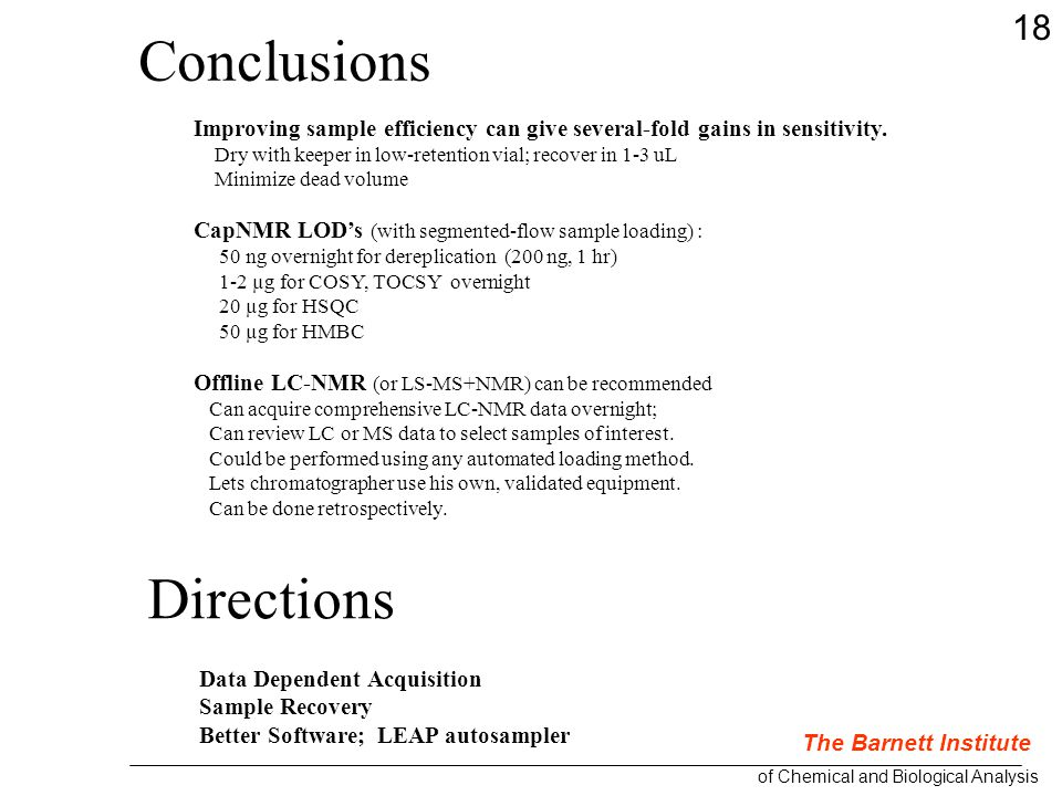 Conclusions Improving sample efficiency can give several-fold gains in sensitivity.