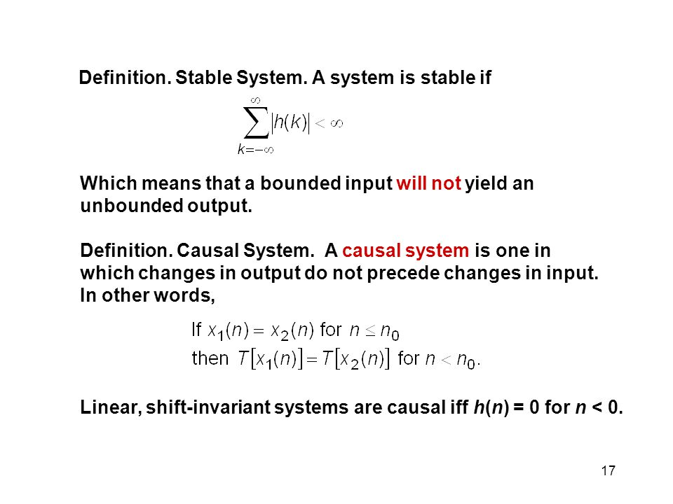 17 Definition.Stable System.