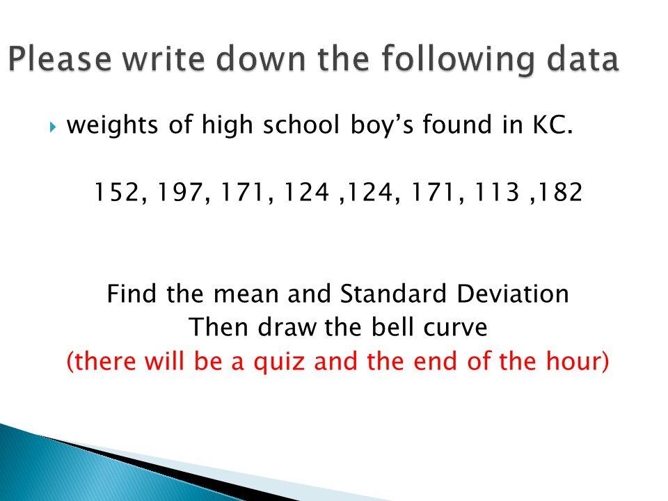  weights of high school boy's found in KC.