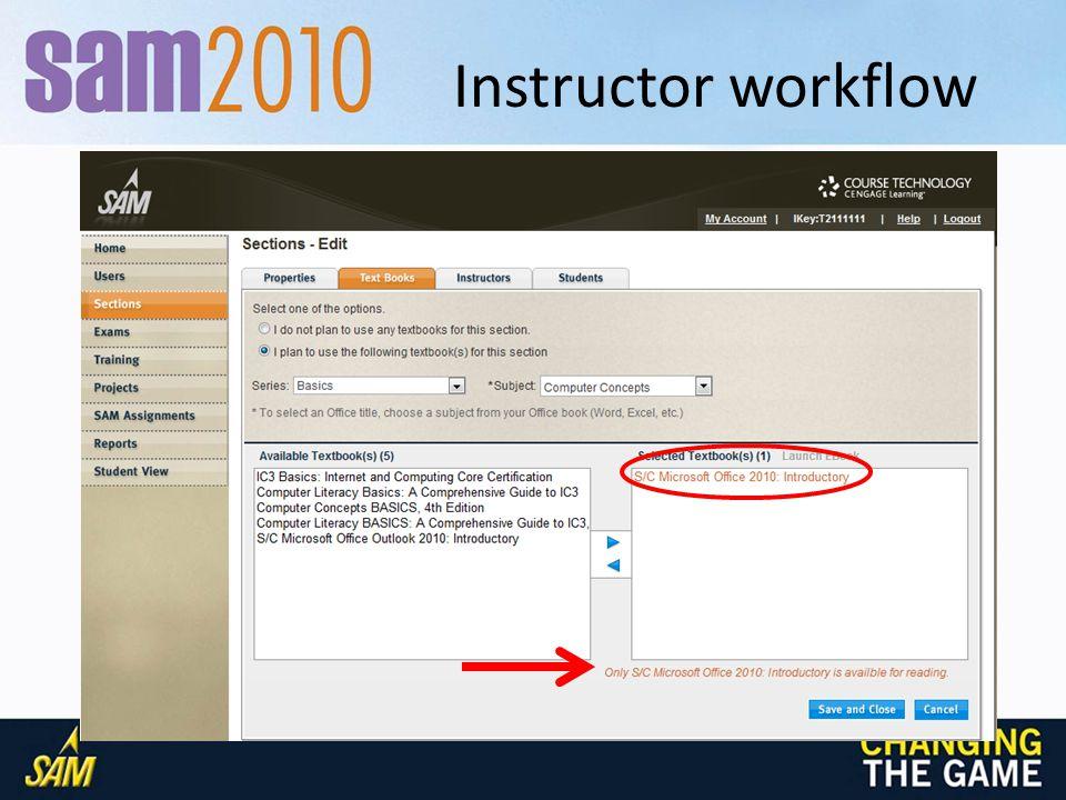 Instructor workflow
