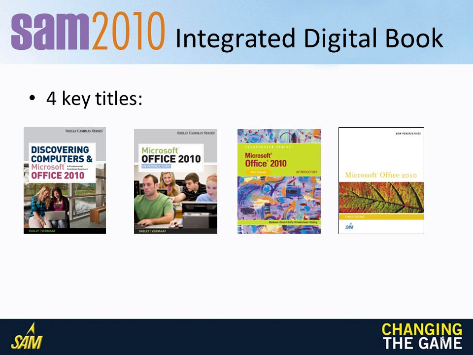Integrated Digital Book: Key features Study Guide links Embedded Videos Bookmarks Highlighting Hyperlinked Glossary terms