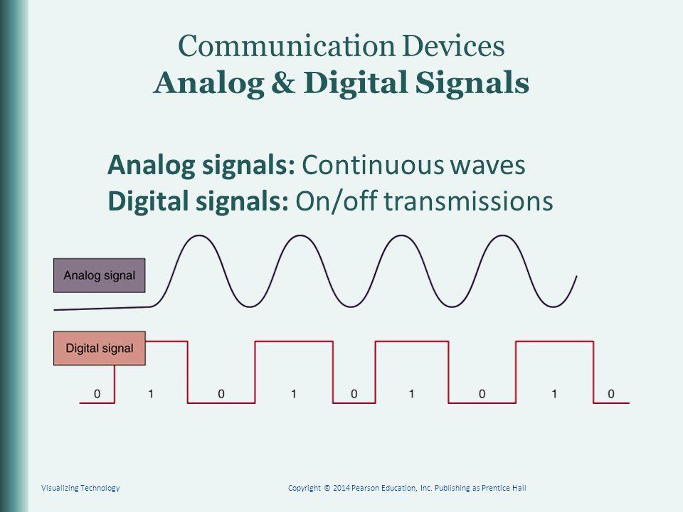Communication Devices Analog & Digital Signals Visualizing TechnologyCopyright © 2014 Pearson Education, Inc.
