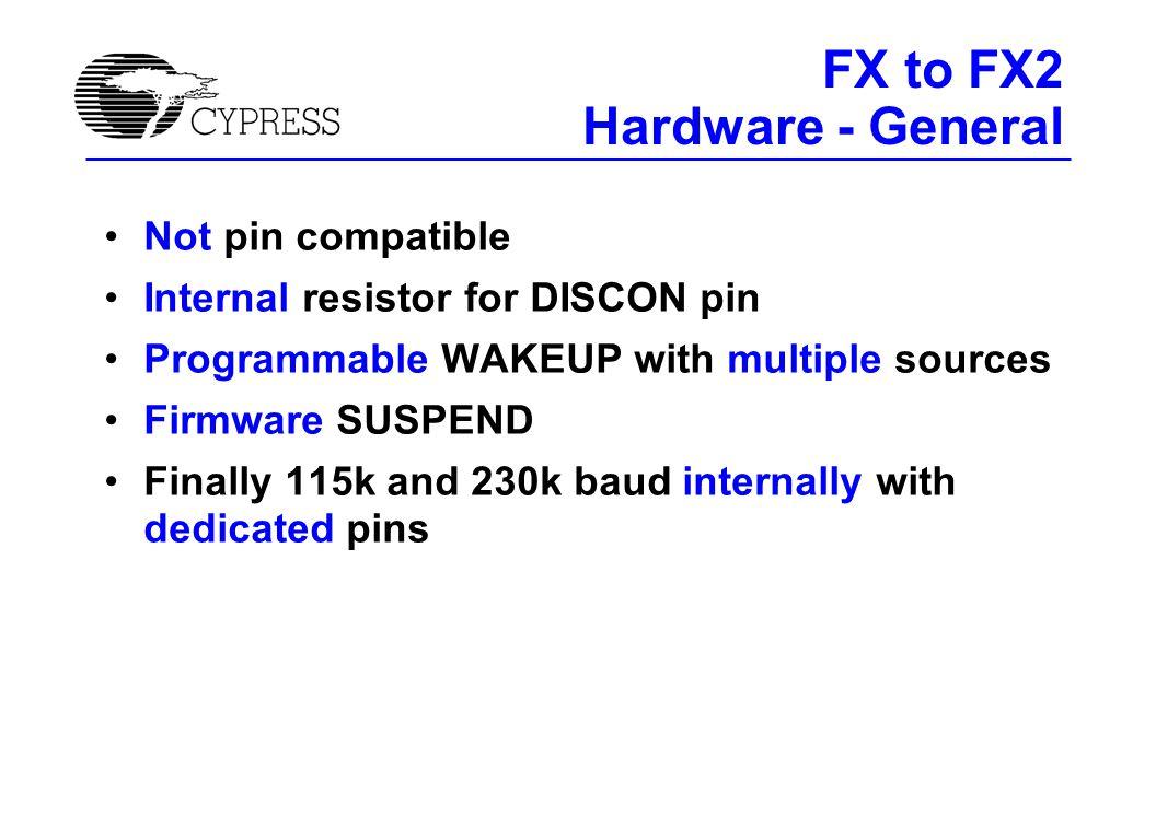 FX vs. FX2 Hardware - General