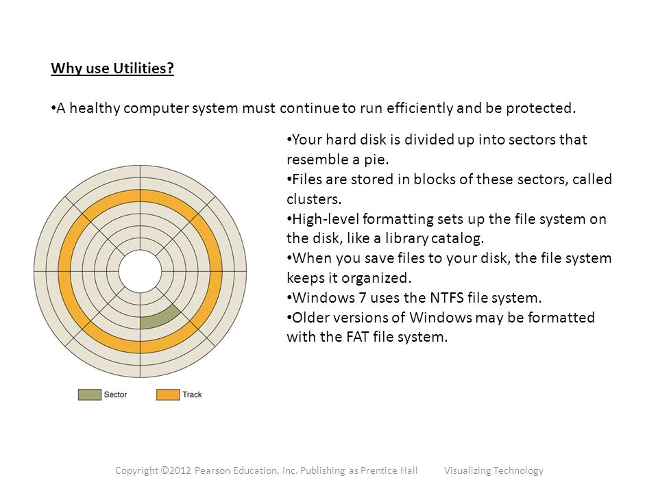 Why use Utilities. A healthy computer system must continue to run efficiently and be protected.