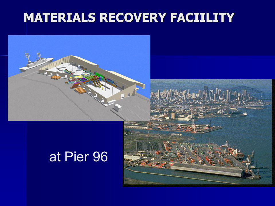 at Pier 96 MATERIALS RECOVERY FACIILITY