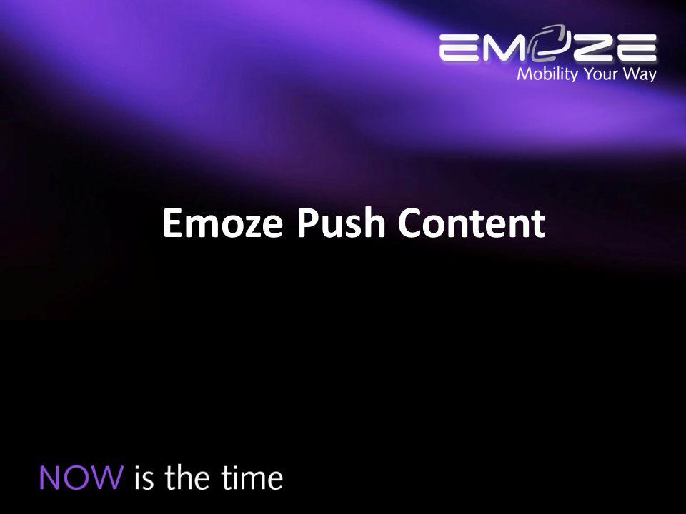 Emoze Push Content