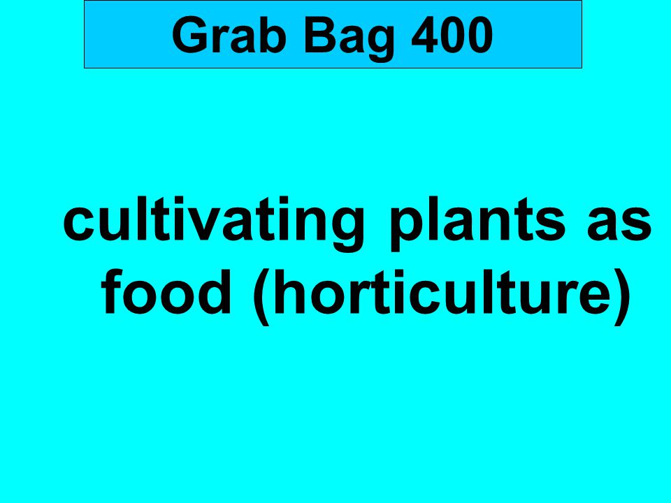 Grab Bag 400 cultivating plants as food (horticulture)