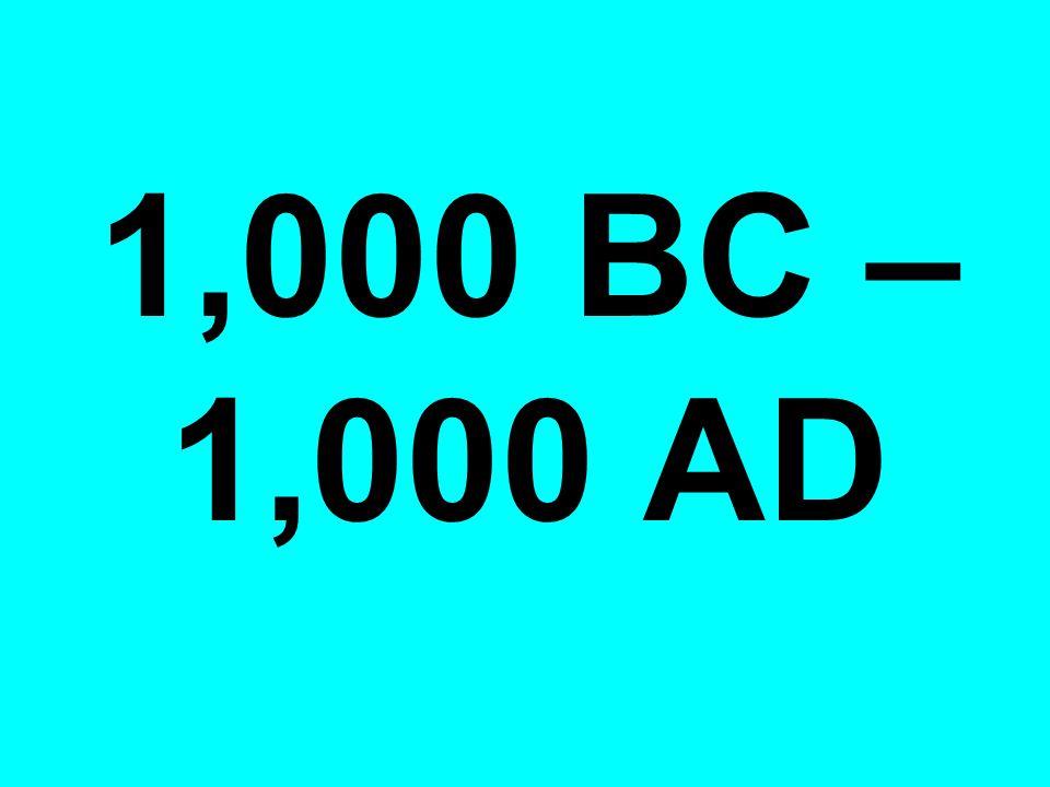 1,000 BC – 1,000 AD