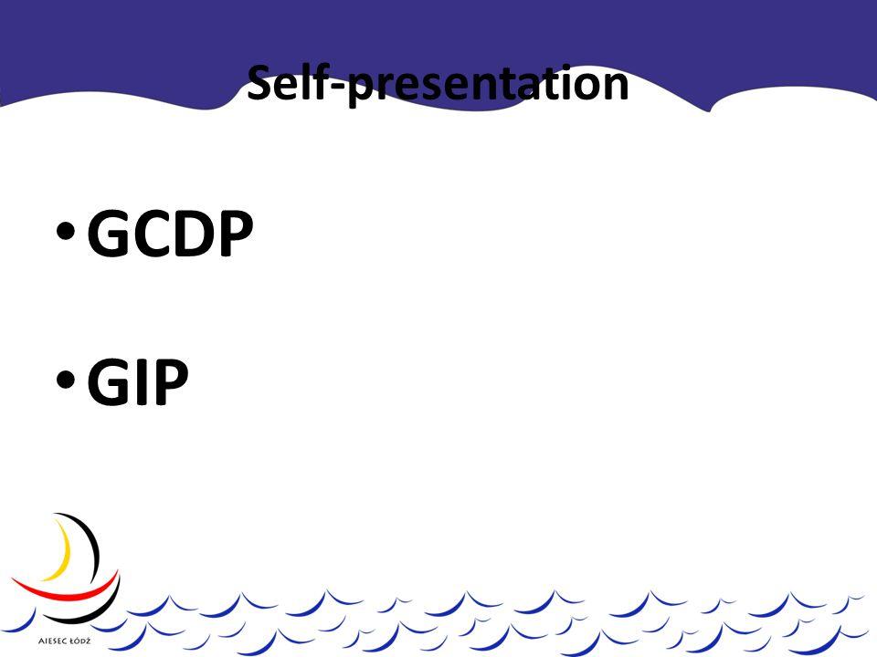 Self-presentation GCDP GIP